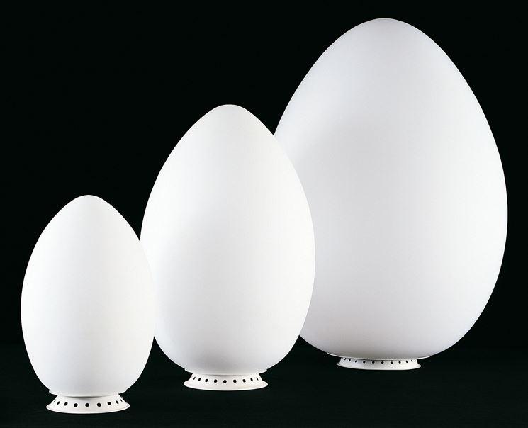 Modelli di diverse misure di lampada a uovo