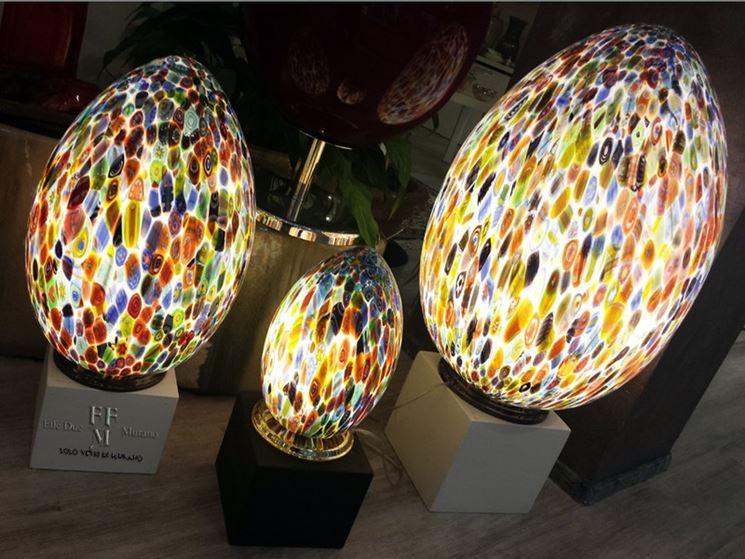 Lampade In Vetro Colorate : Lampada in vetro colorato arredare con stile