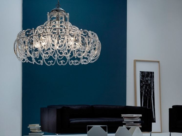 Lampadari pendenti lampade lampadari tipologie di - Lampadari a soffitto per cucina ...