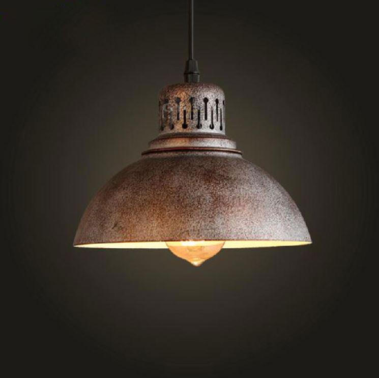 Lampade a sospensione lampade lampadari tipologie di for Lampadario vintage