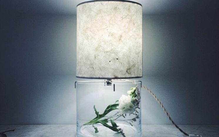 Particolare lampada carta