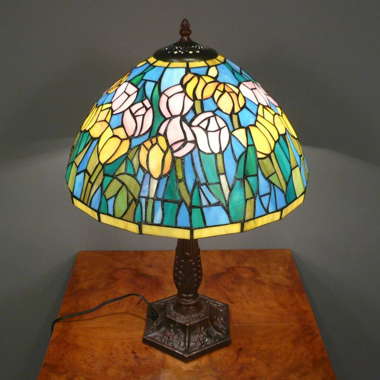 Lampada Tiffany da tavolo