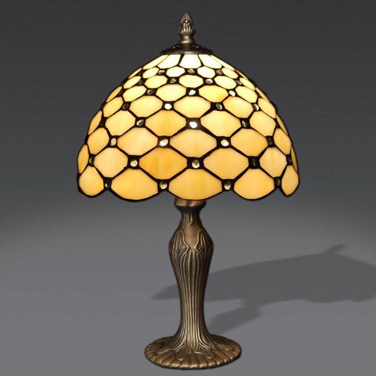 Lampada Tiffany da comodino