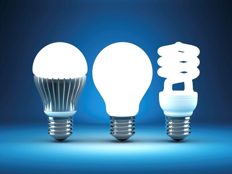 Diversi modelli di lampadina