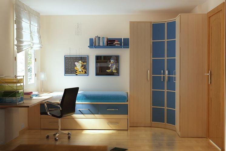 Esempio di una camera per ragazzi