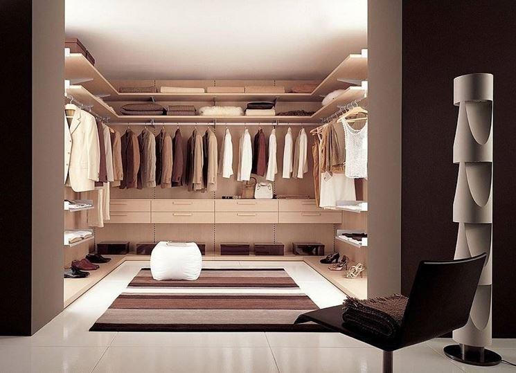 Un esempio di cabina armadio