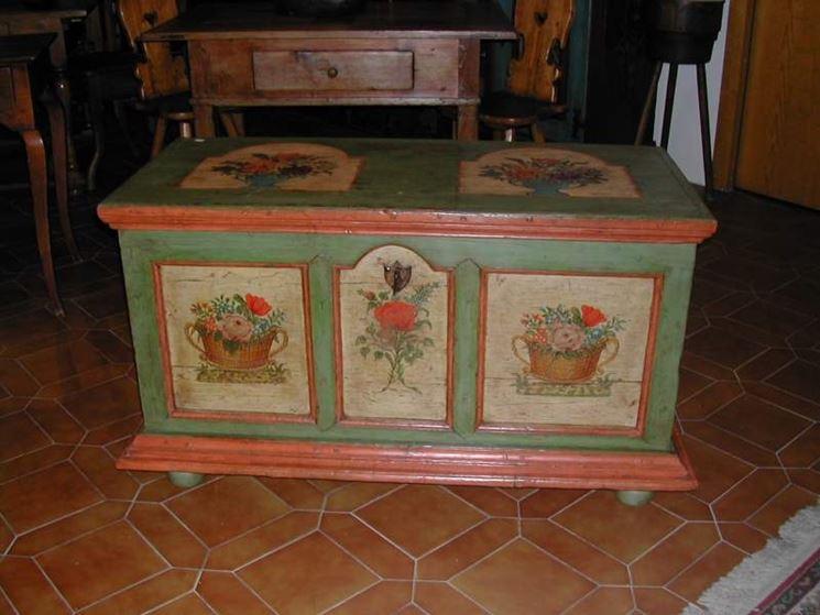 Cassapanca in legno mobili casa cassapanca legno for Cassapanca vimini