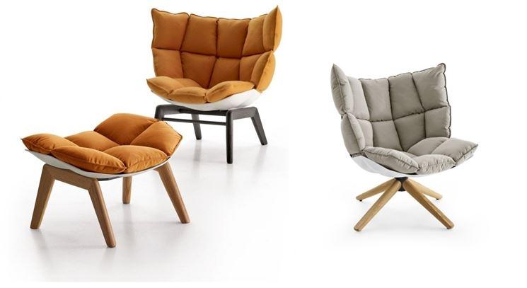 Sedie design rivestite