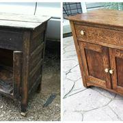 Mobile prima e dopo il restauro