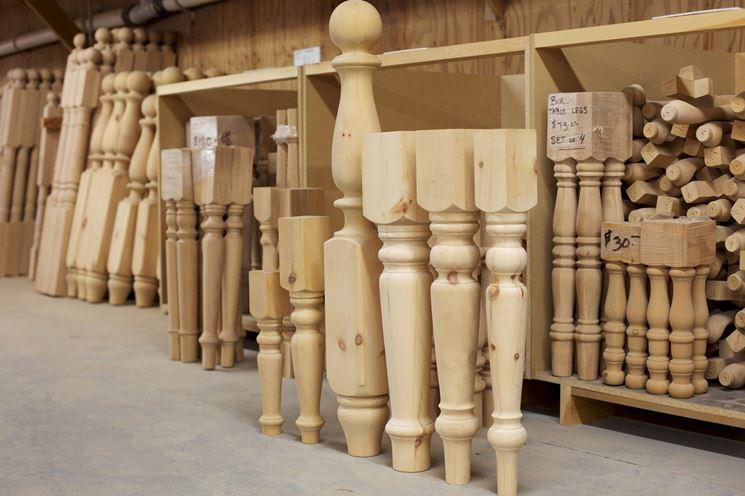 Gambe per tavoli in legno - Tavoli e sedie - Tavolo legno