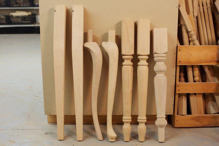 Gambe tavolo legno