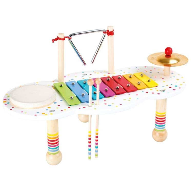 Tavolini per bambini compresi di tastiera musicale