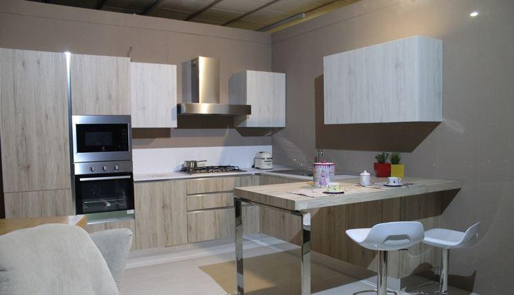 Tavolo a muro in cucina