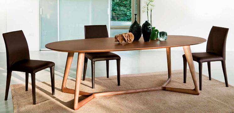 Tavoli ovali moderni tavolo da pranzo ovale modello for Tavoli offerte online