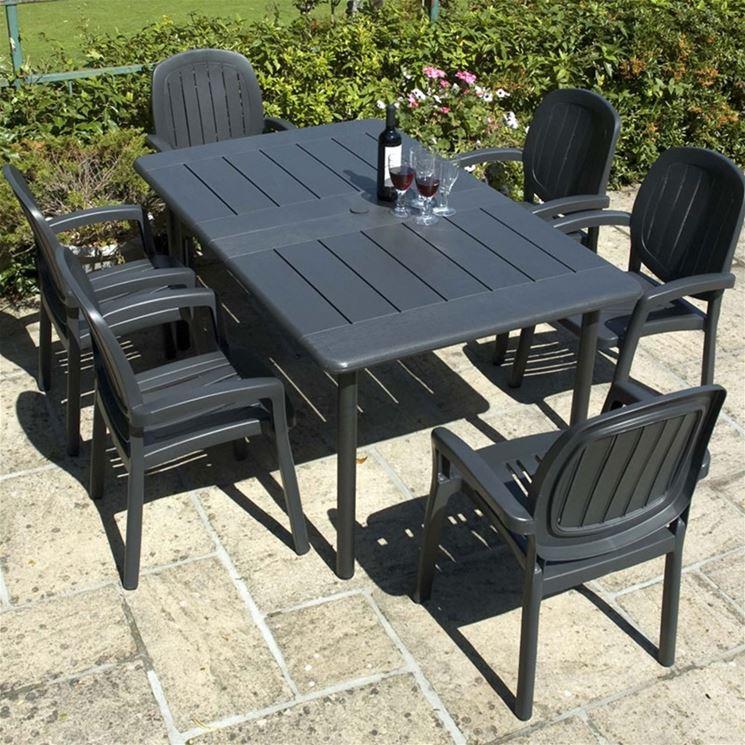 Tavoli in resina tavoli e sedie modelli e vantaggi dei - Tavoli in resina da esterno ...