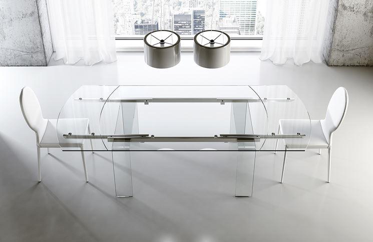 Esempio di tavolo in vetro