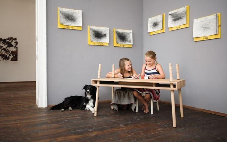Tavolino bambino legno