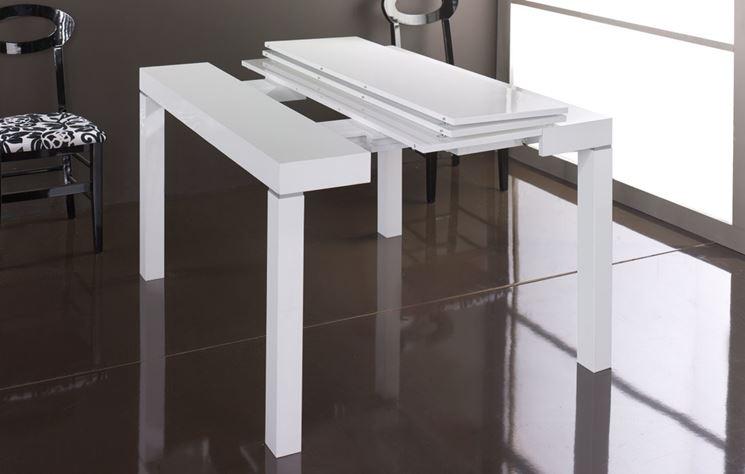 Tavolo consolle allungabile tavoli e sedie tavolo for Tavolo allungabile mondo convenienza