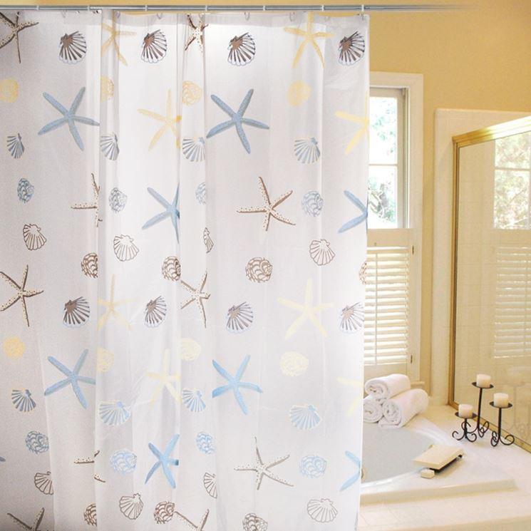 Tende per vasca da bagno tende moderne scegliere tenda - Tende classiche per bagno ...