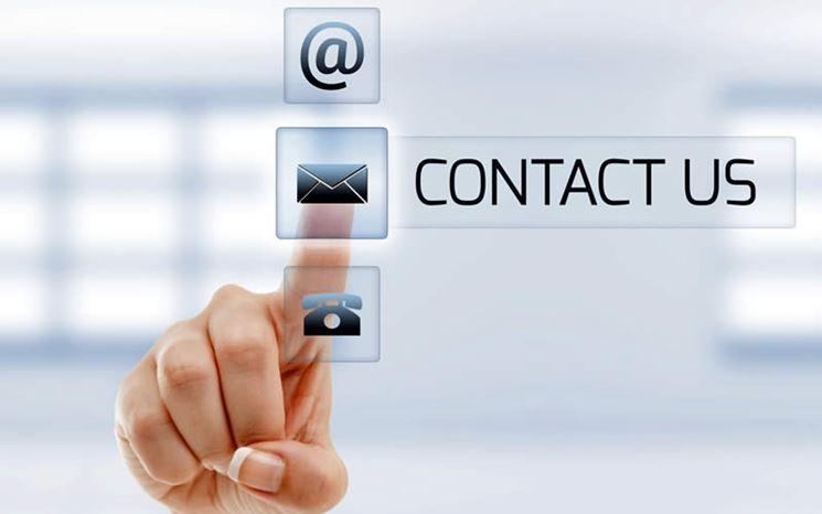 Possibilità di contatto per gli utenti