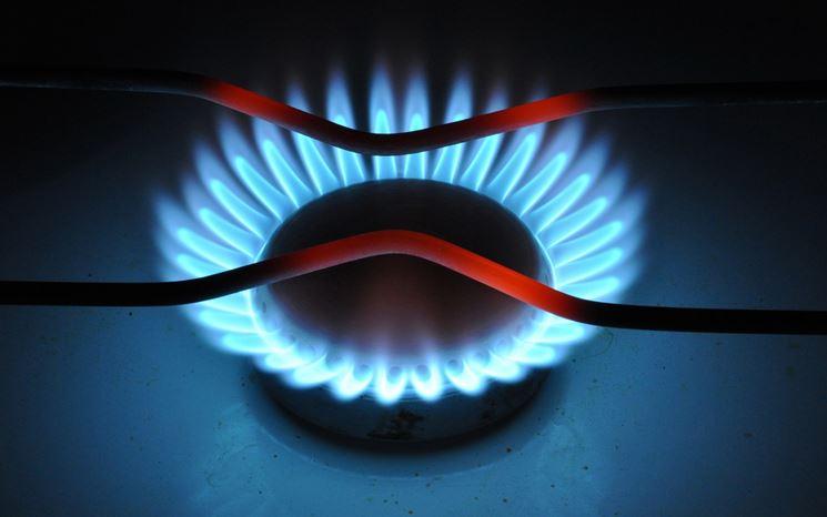 Un fuoco dei piani cottura a gas