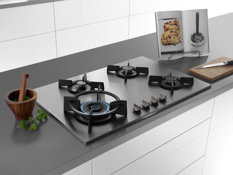Piani cottura a gas piani cucina piano cottura gas for Piani di cucina stretti