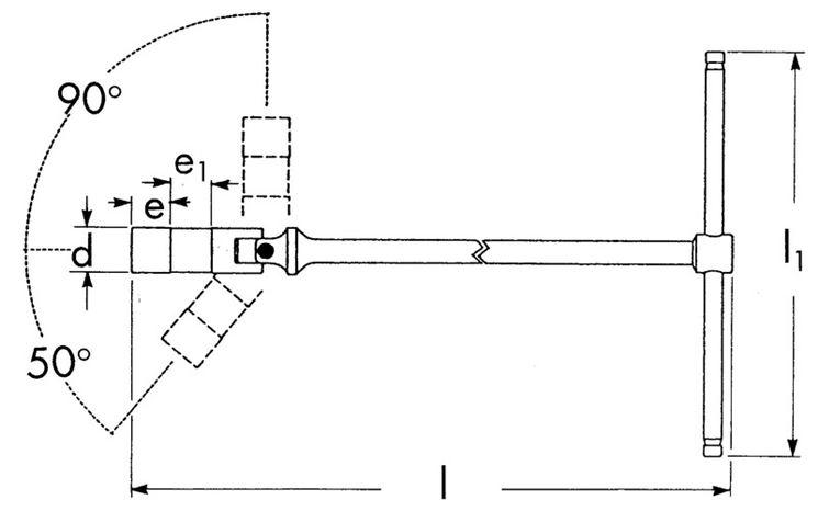 Diagramma di chiave candela professionale snodata