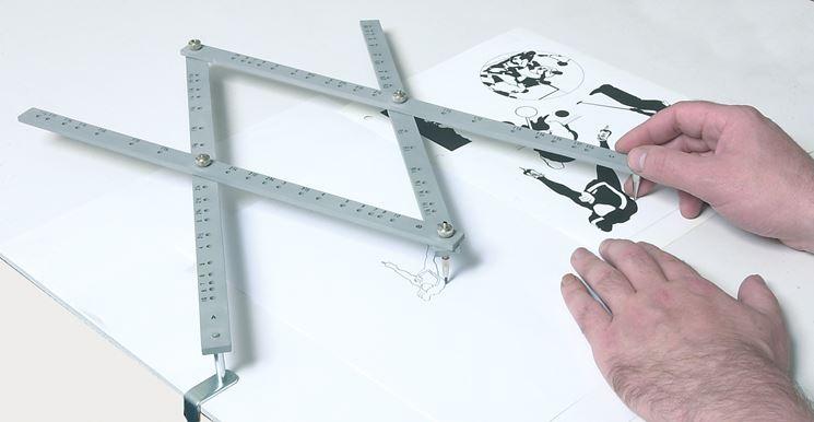 riproduzione disegno con pantografo