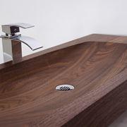 Lavabo da appoggio in legno