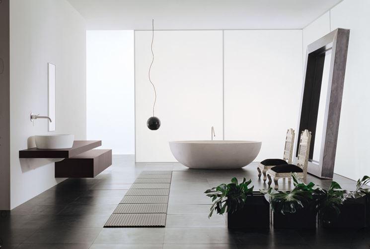 Progetto di un bagno elegante