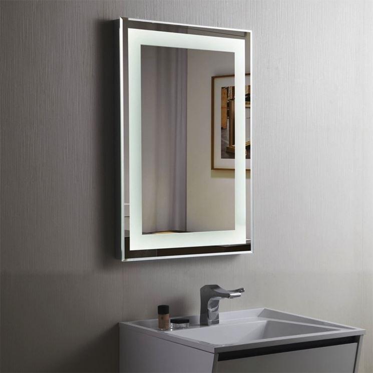 Specchio in bagno con luce