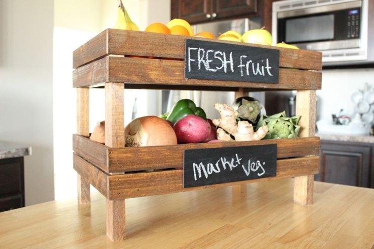 cassette frutta in cucina