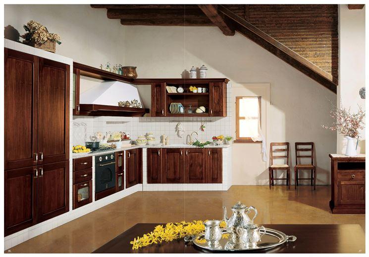 Cucina in muratura classica