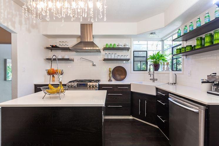 Cucina moderna angolare