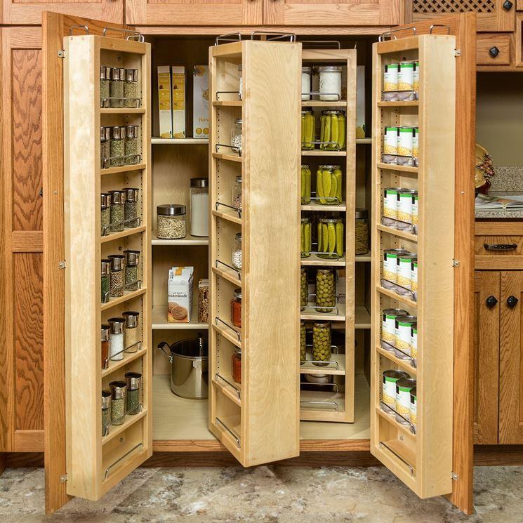 Cucine armadio in legno