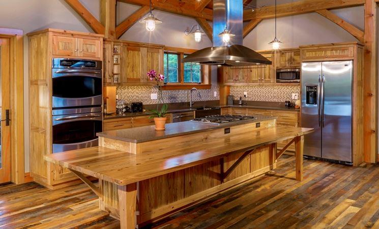 Cucina artigianale rustica