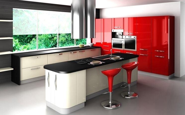 cucina colorata moderna