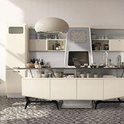 Cucina di design in acciaio inox