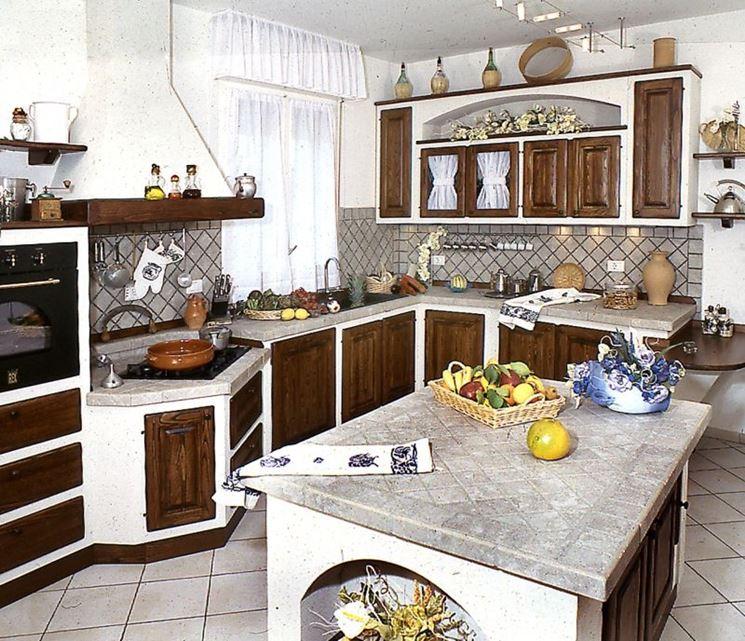 colori cucine rustiche in muratura
