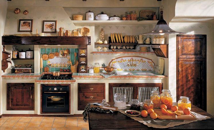 cucine in muratura rustiche fai da te
