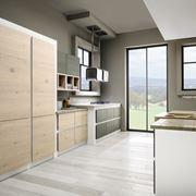 Dettaglio di una cucina in muratura moderna