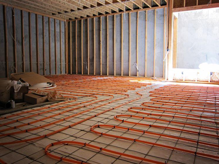 Riscaldamento a pavimento in costruzione