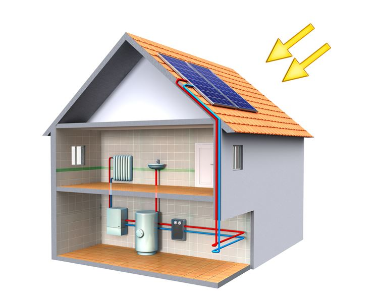 Impianto di riscaldamento solare combinato