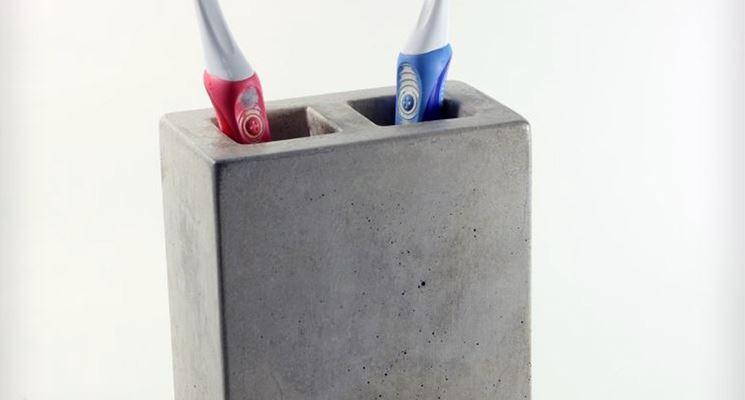 Porta spazzolini in pietra