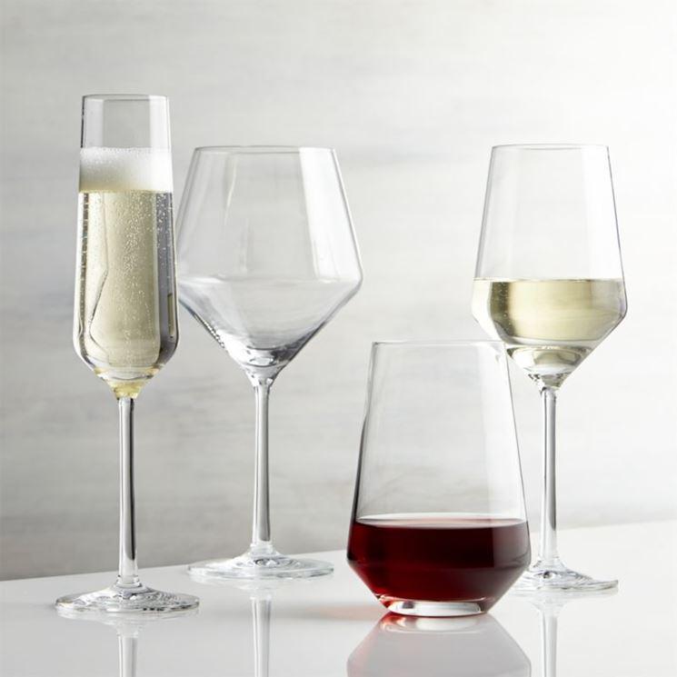 Tipologie di calici per vino