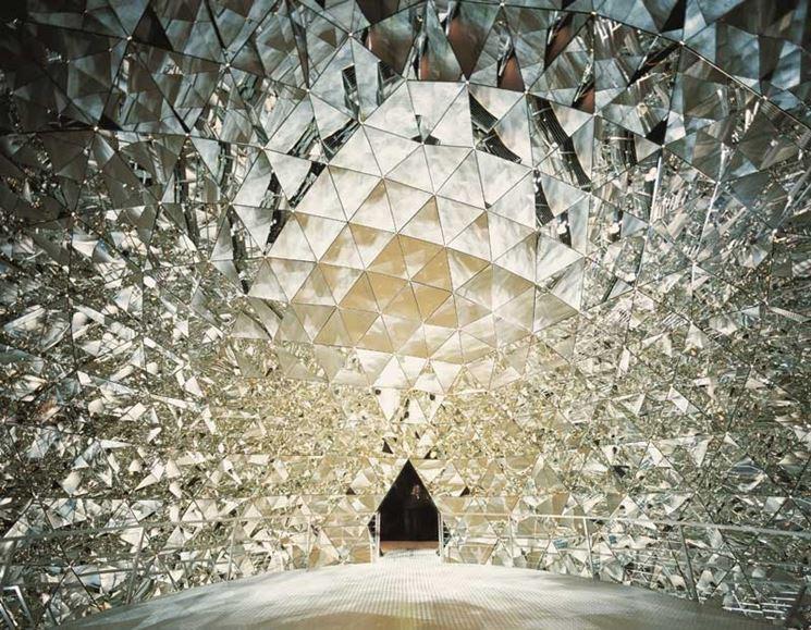 parete in cristallo swarovski
