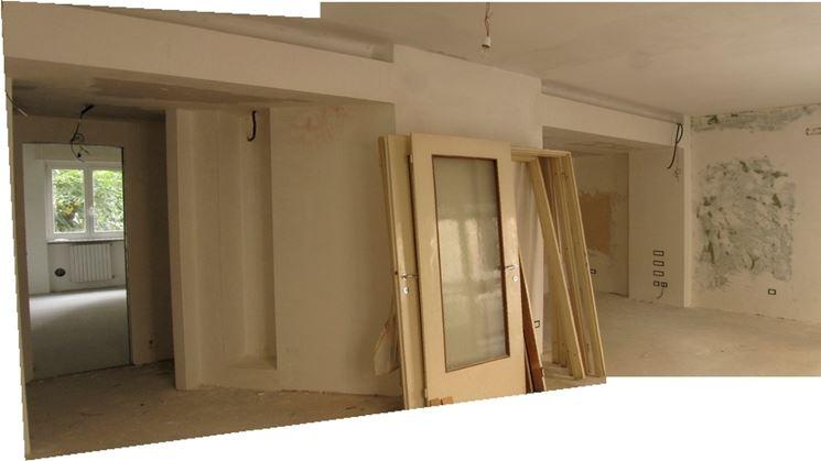 La sistemazione degli interni di un appartamento