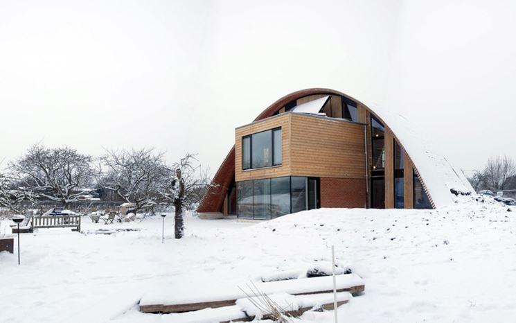 Una casa ecologica in legno