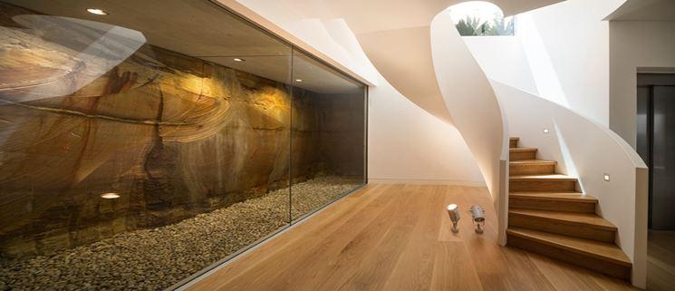 Scale elicoidali in legno moderne
