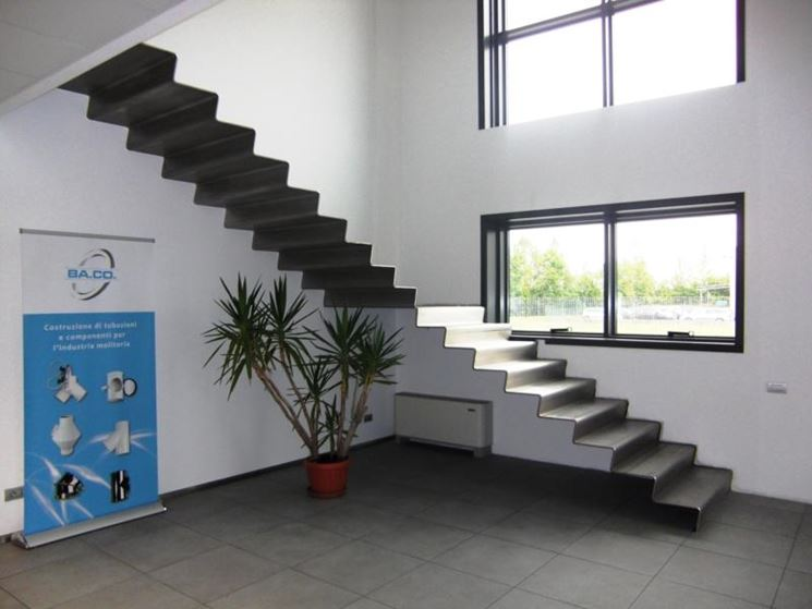 Scale in acciaio scale interne tipologie di scale in - Scale rivestite in legno per interni ...